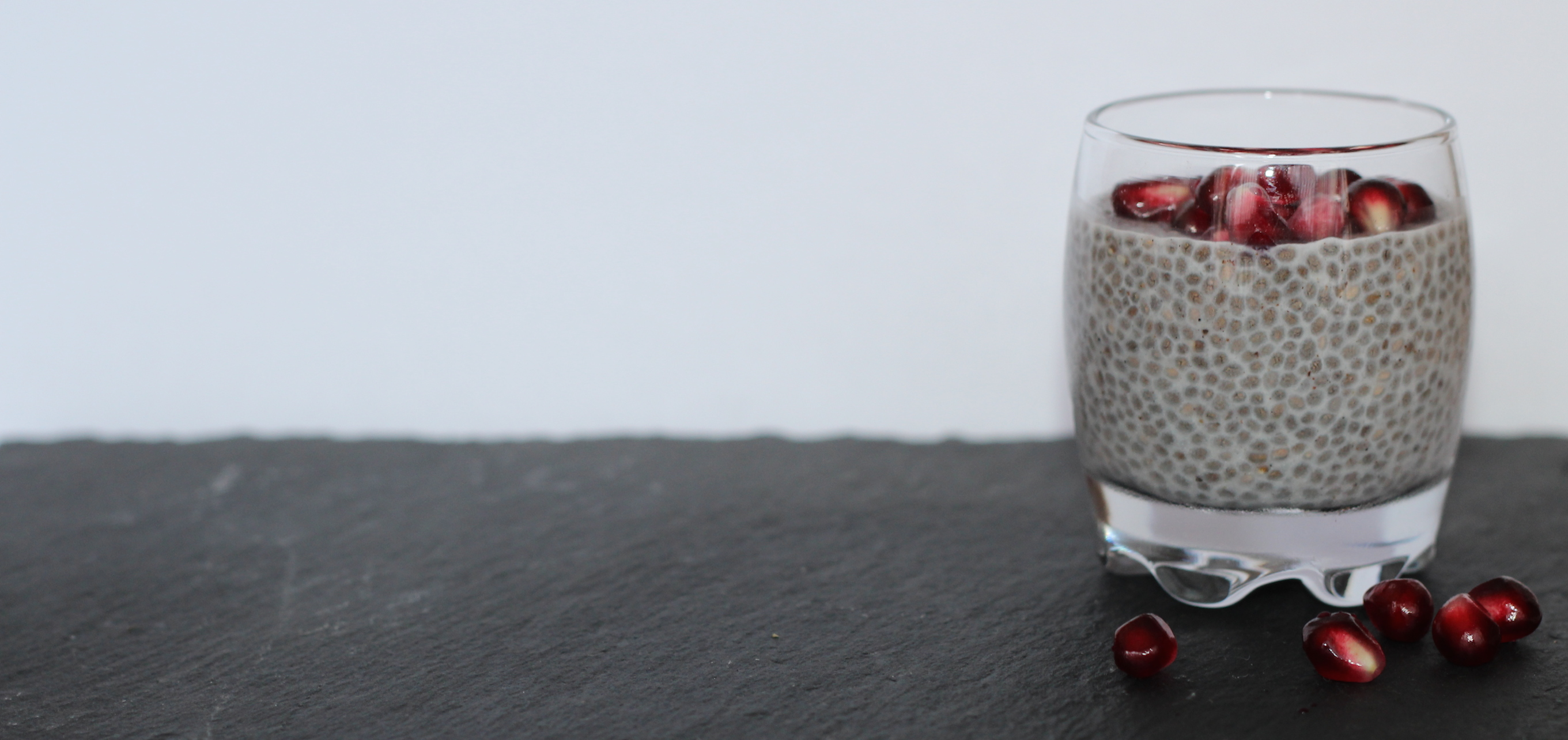 Vanilla-chia-gel-with-pomegranate-seeds