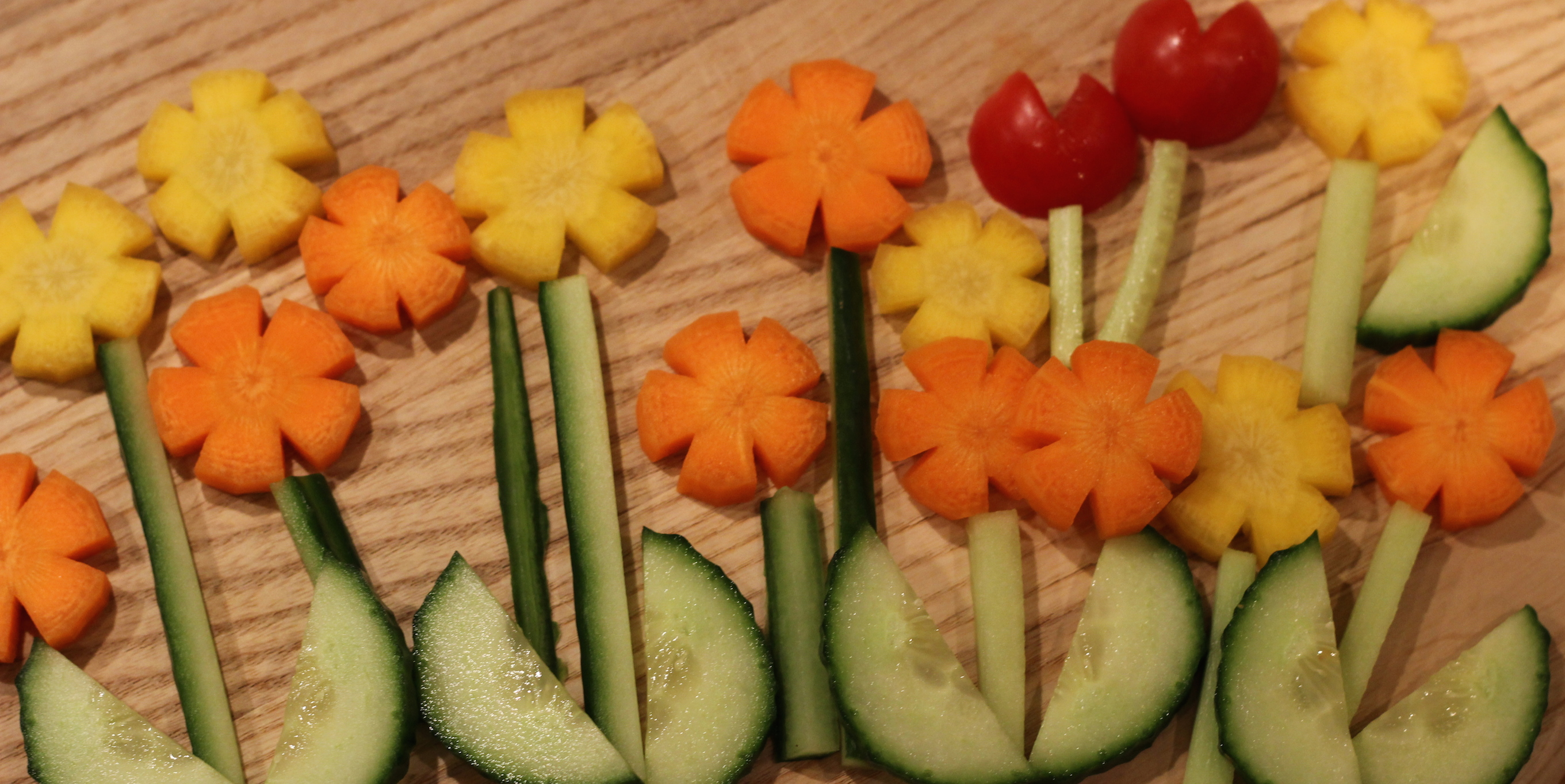 carrot-flower-snacks